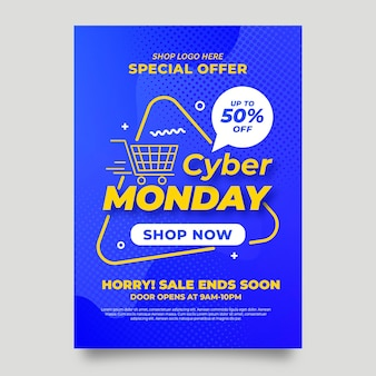 Cyber lunedì flyer design