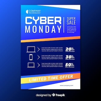 Cyber monday flyer with sale offers
