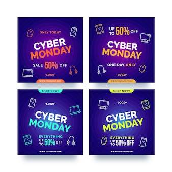 Cyber monday instagram posts pack