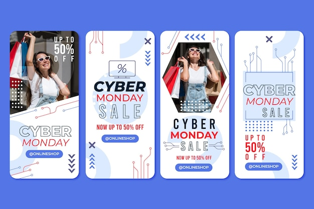 Cyber monday instagram stories pack