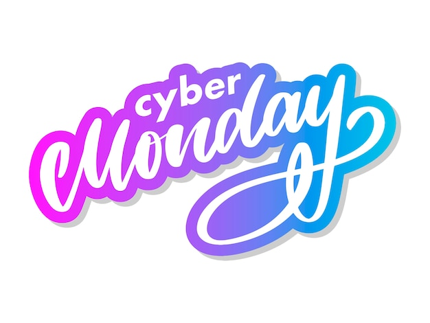 Cyber monday letter. cyber monday sale banner