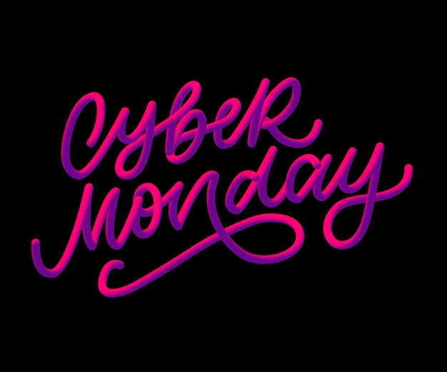 Cyber monday lettering calligraphy