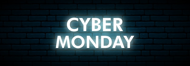 Cyber monday neon sign.