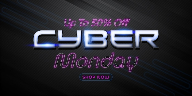 Cyber monday online shopping sale banner template