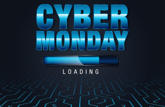 Cyber monday sale background for good deal promotion