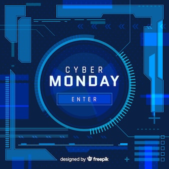 Cyber monday sale background neon style