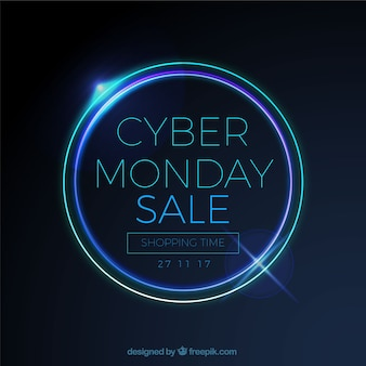 Cyber monday sale background