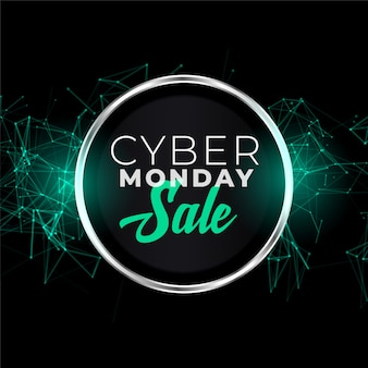 Cyber monday sale banner in futuristic style