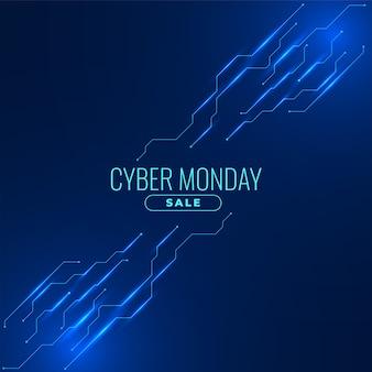 Banner di vendita di cyber lunedì per lo shopping online