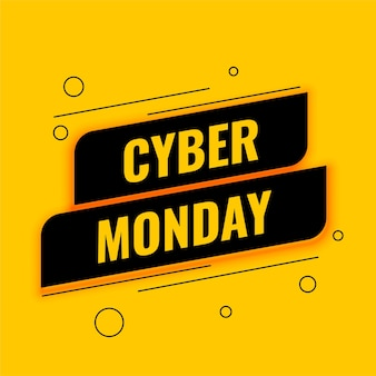 Cyber monday sale banner for online shopping