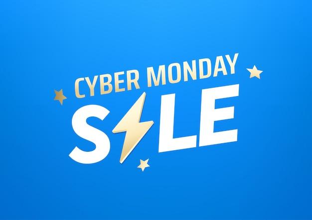 Cyber monday sale banner. season offer concept