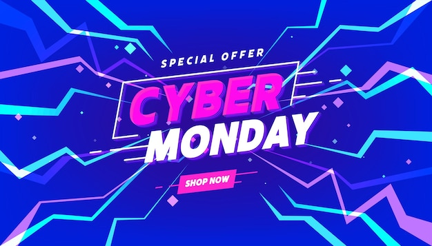 Cyber monday sale banner template for business promotion.