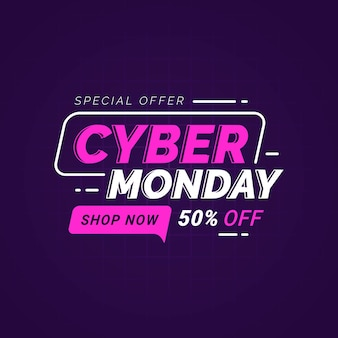 Cyber monday sale banner template for business promotion
