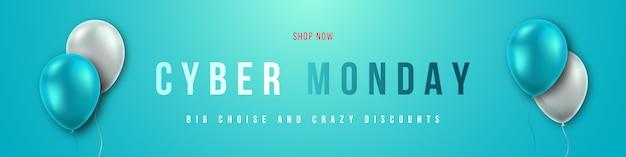 Cyber monday sale concept design.