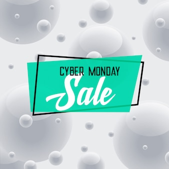 Cyber monday sale gray background