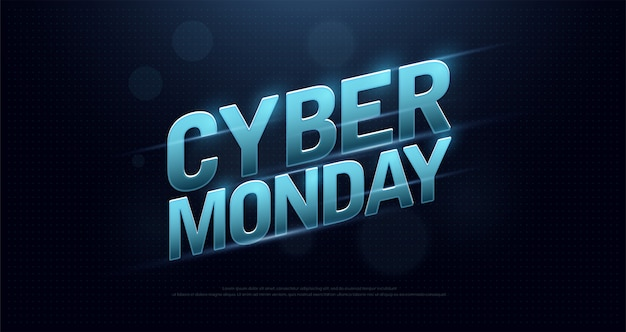 Cyber monday sale logo design technology concept