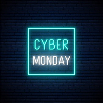 Cyber monday sale neon sign