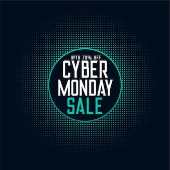 Cyber monday sale offer digital tech background