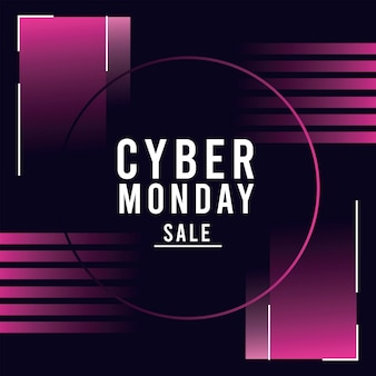 Cyber monday sale poster with circular frame illustration design
