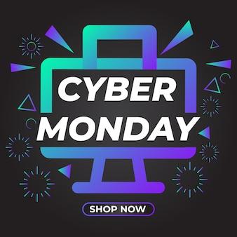 Cyber monday sale social media post promotion