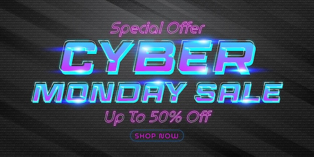 Cyber monday sale special offer poster template