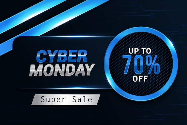 Cyber monday sale trendy design banner background template