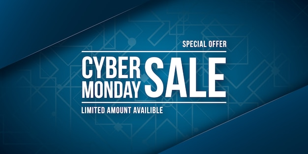 Cyber monday sale. wide banner.