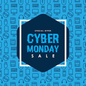 Шаблон дизайна для cyber monday sale