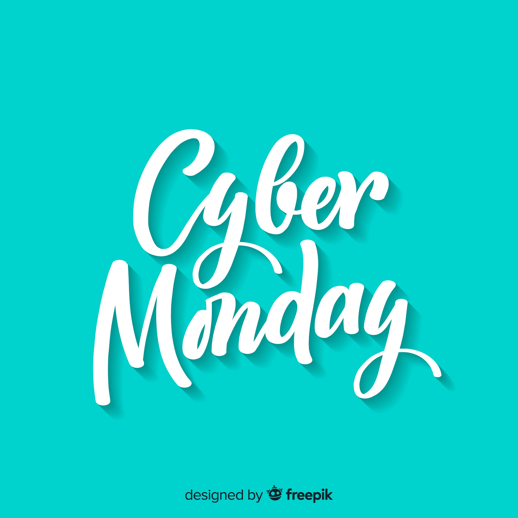Cyber monday sales background with lettering