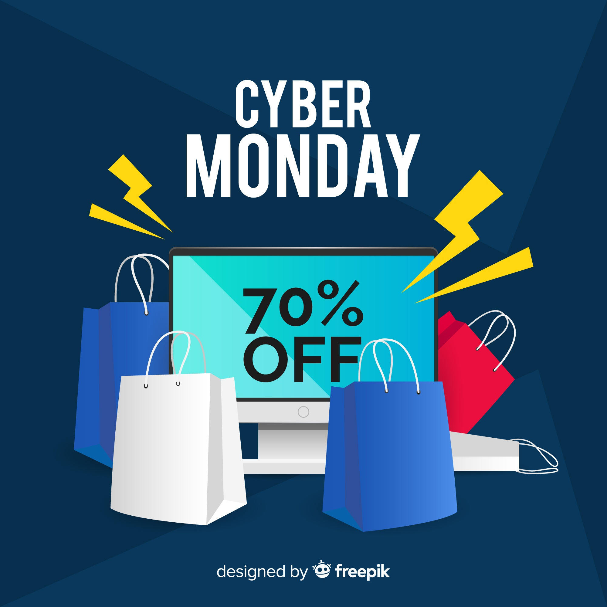 Cyber monday sales background