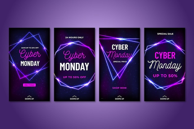 Cyber monday social media stories