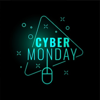 Cyber monday stylish digital glowing banner design