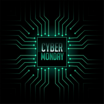 Cyber monday technology circuit style background