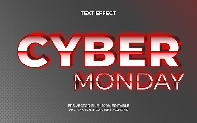 Cyber monday text effect style editable text effect