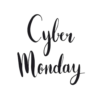 Cyber monday typography style vector