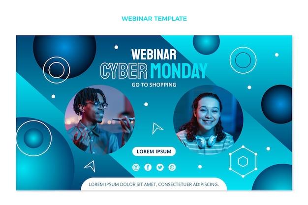 Cyber monday webinar template