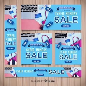 Коллекция шаблонов баннеров cyber monday