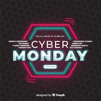 Концепция cyber monday в плоском дизайне