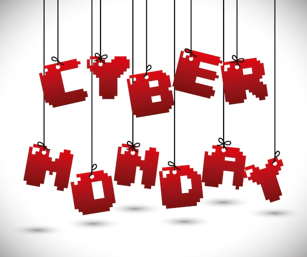 サイバーmondays電子商取引プロモーションおよび販売 Premiumベクター
