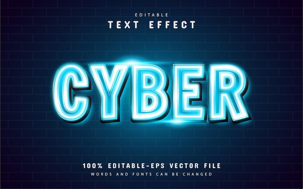 Cyber neon text effect
