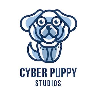 Шаблон логотипа студии cyber puppy