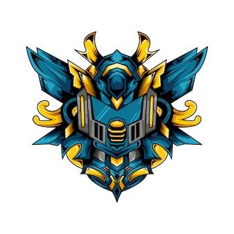 Cyber robot illustration