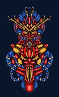 사이버 로봇 블루 그림