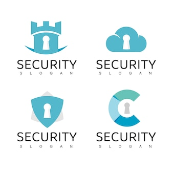 Cyber secure logo design template, data cloud security icon