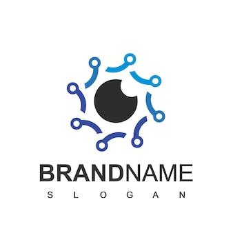 Cyber secure logo design template