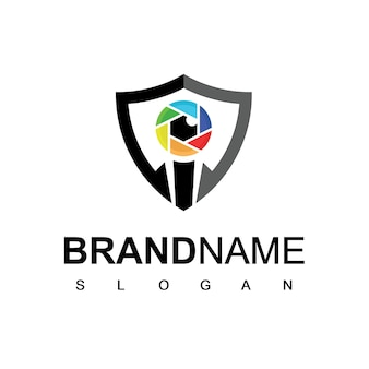 Cyber secure logo template