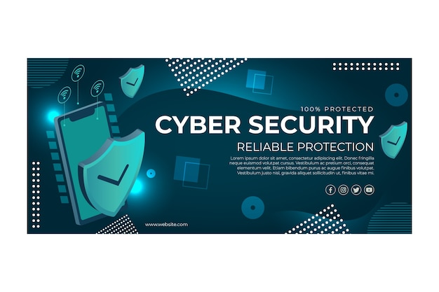 Cyber security banner template
