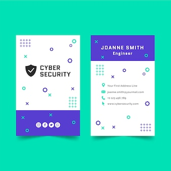 Cyber security business card template
