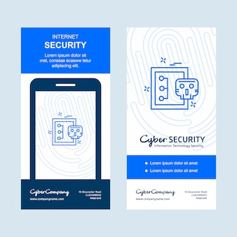 Cyber security card banner