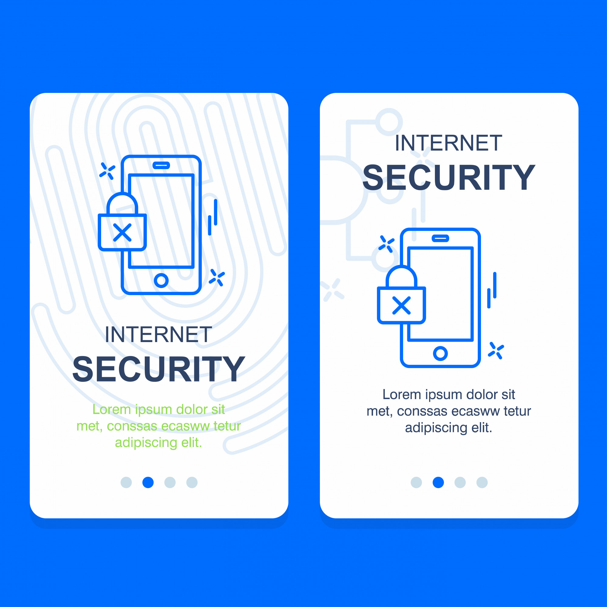 Cyber security company design vector